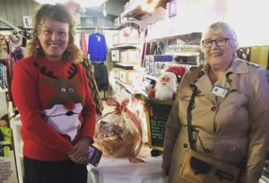 Staff member from Chacewater Garden Centre and Volunteer from Penhaligon's Friends pictured at the garden centre.